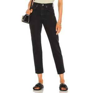 FREE PEOPLE stove pipe black out denim jean 30